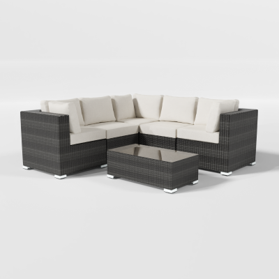 Calla Lily Patio Sectional with Coffee Table