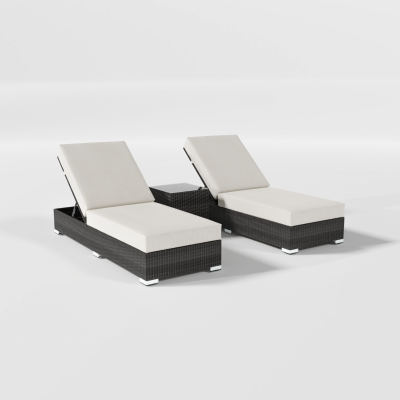 Calla Lily 3-Piece Patio Lounge Chair Set