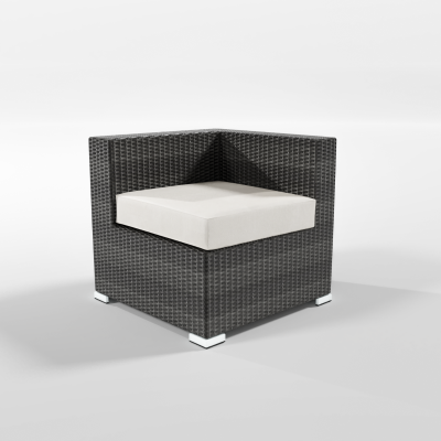 Calla Lily Patio Modular Corner Chair